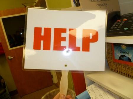 Help sign for Kids Ministry