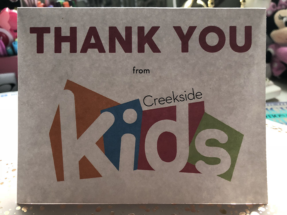 Thank You Card for Kids Ministry Volunteers