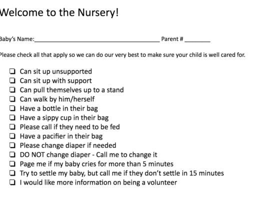 Nursery Checklist