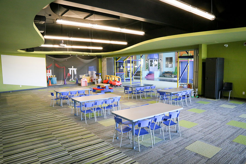Creekside kids area