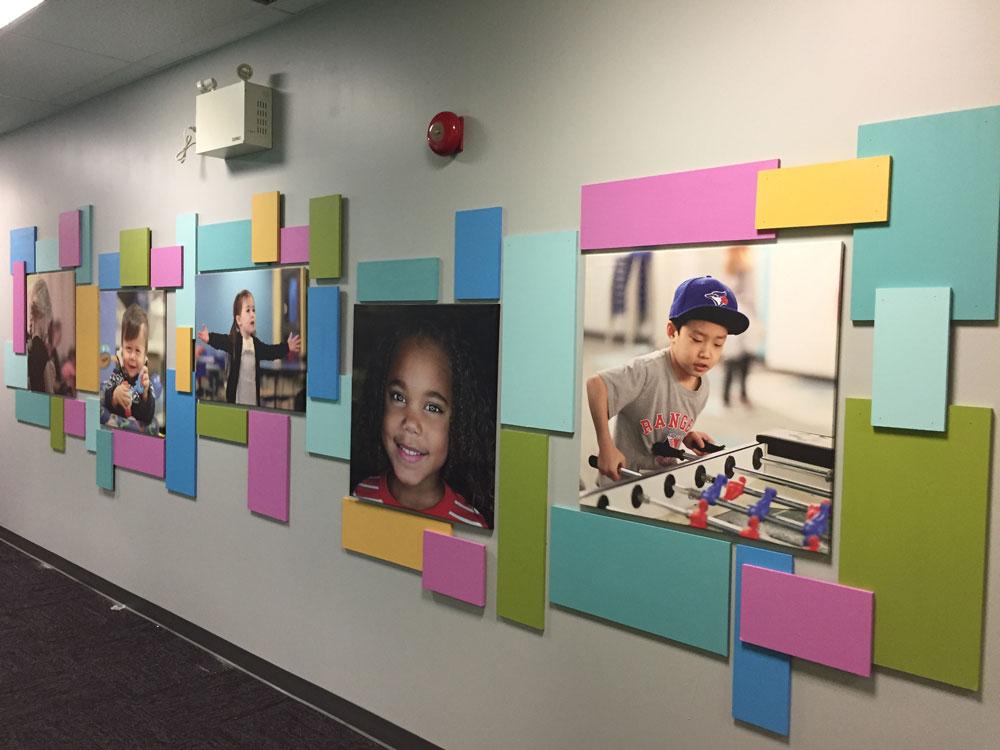 DIY kids photo wall