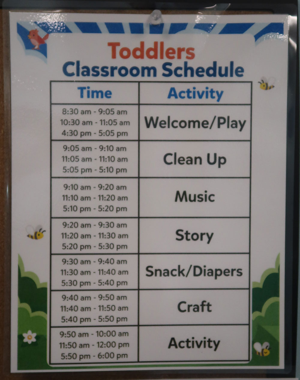 Room Schedule Sign