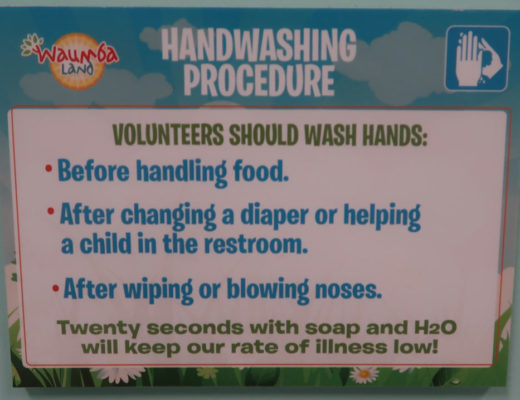 Handwashing Procedure Sign