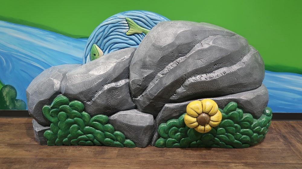 Interactive rock preschool area