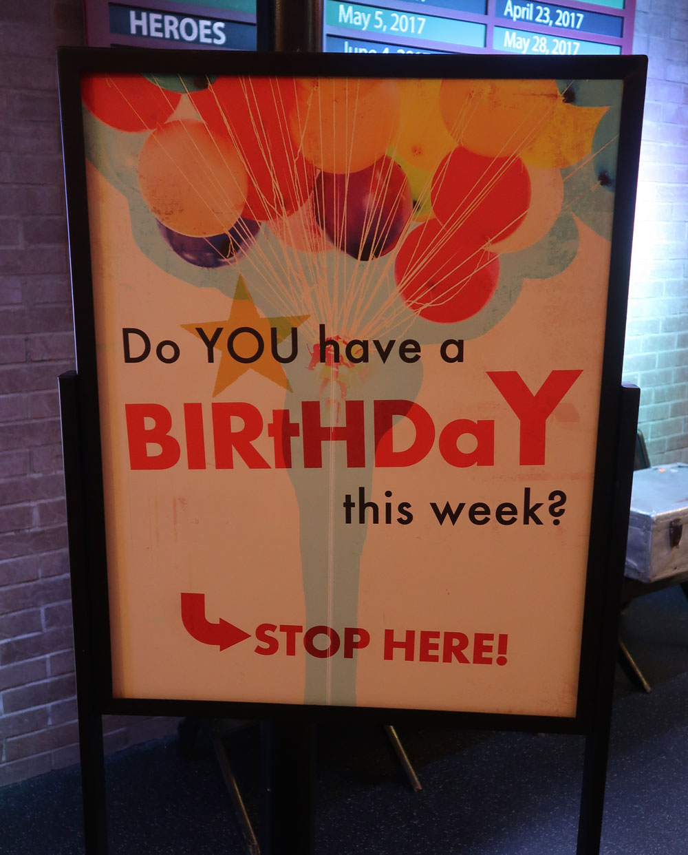 Birthday Sign